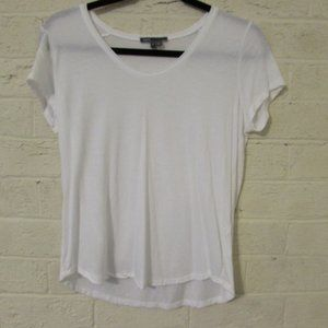 White Short Sleeve Top Size Small